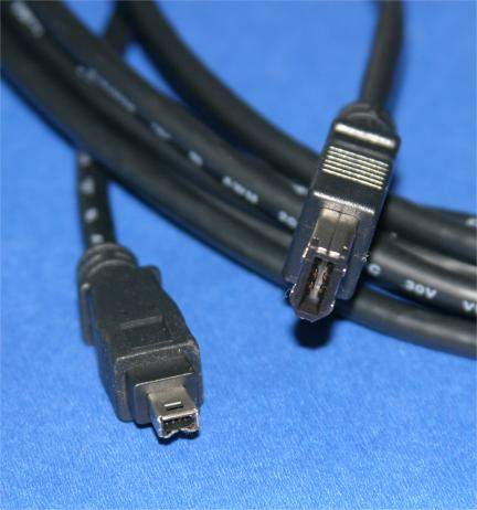10FT FIREWIRE CABLE BLACK 6PIN 4PIN