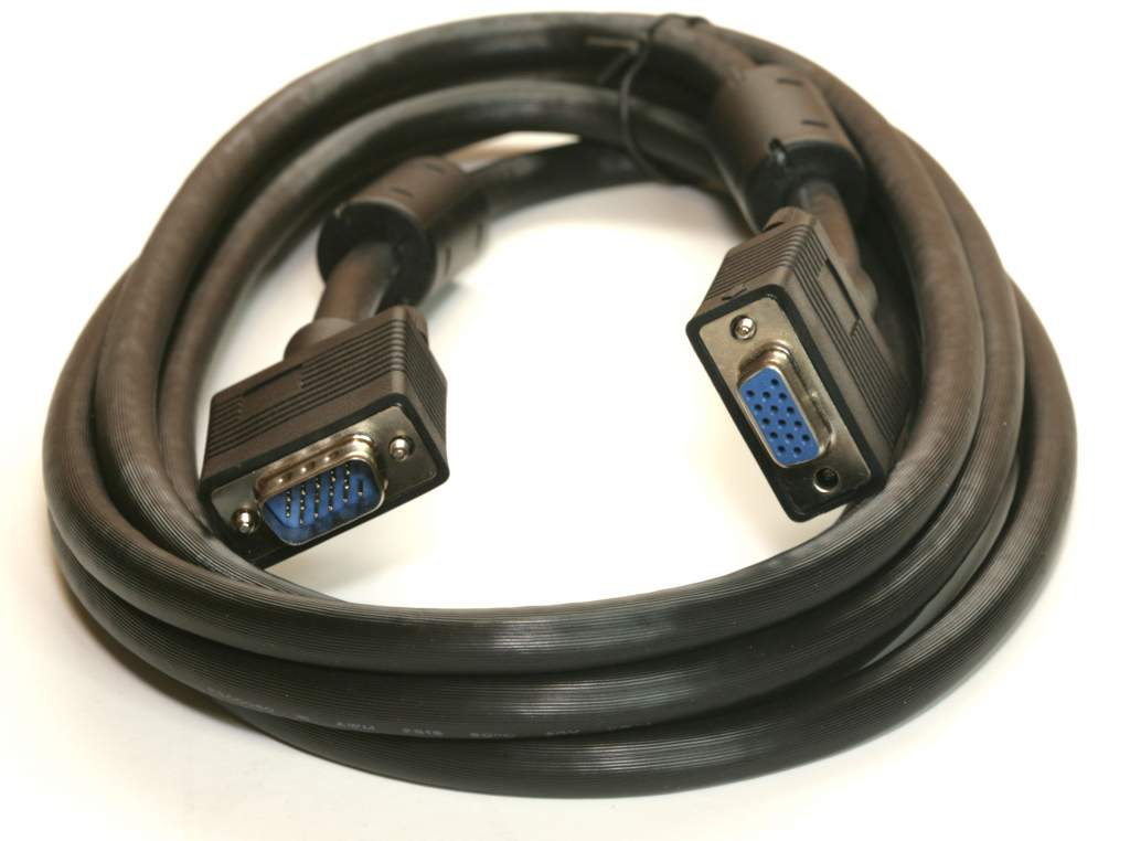 10FT SVGA CABLE MONITOR UL2919 HD15 EXTENSION Male to Female