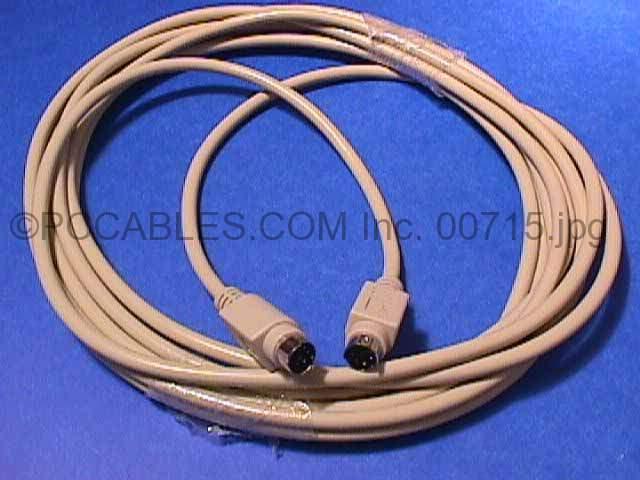 15FT KEYBOARD-MOUSE CABLE MINIDIN6 Male to Male PS/2 PS2