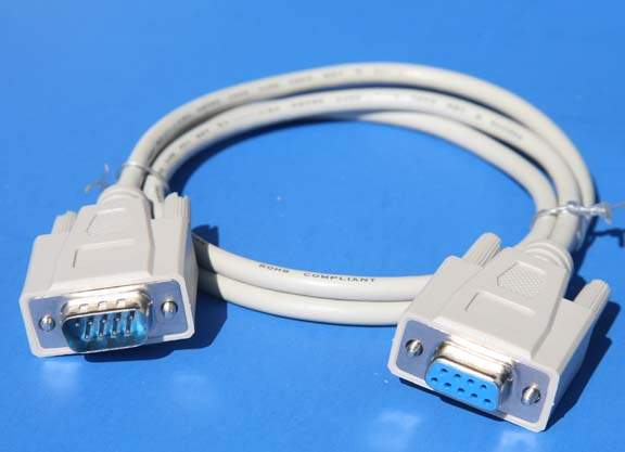 3FT DB9M to DB9F SERIAL CABLE BEIGE UL2464
