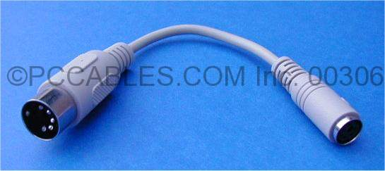 Keyboard Adapter PS2 PS/2 to AT MINIDIN6-F to DIN5-M