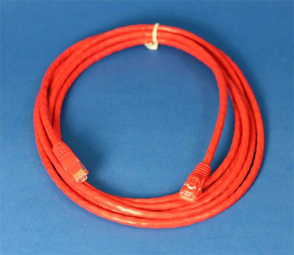 NETWORK CROSSOVER CABLE 10FT RED RJ45 CAT5e