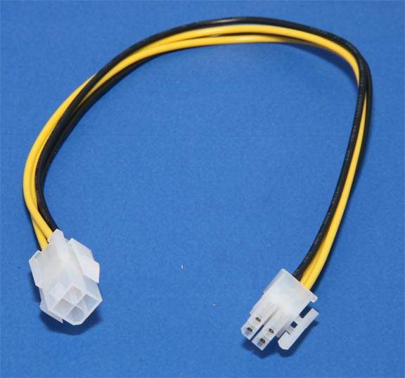 Power Supply P4 Extension Cable 12 Inch