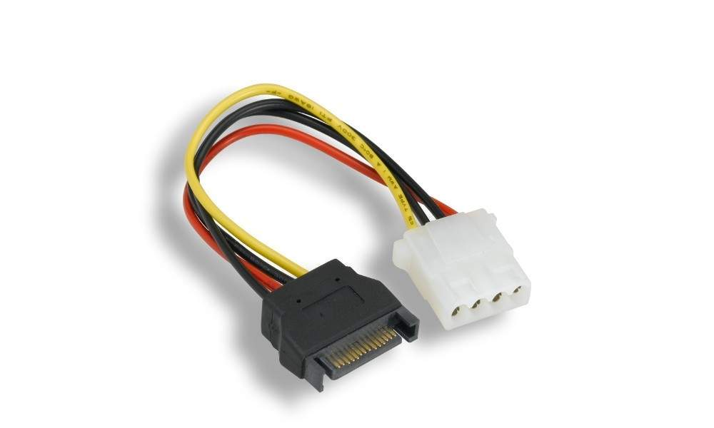 Sata-M Power to Molex 4pin Female Cable 7 Inch