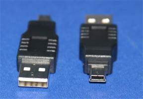 USB CAMERA ADAPTER TYPE A-Male to MINI-B 5-Male